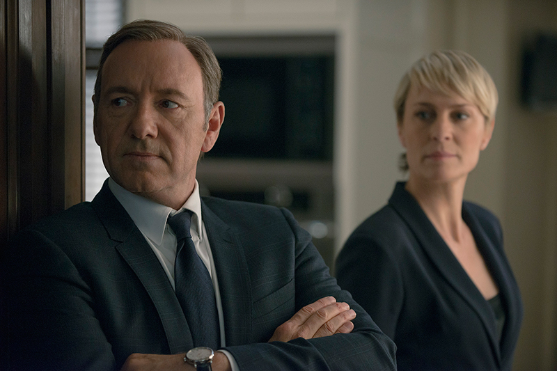 2. Kevin Spacey og Robin Wright – House of Cards
